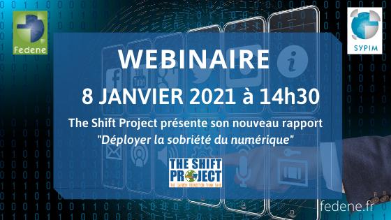 [WEBINAIRE] Déployer la Sobriété du Numérique – avec The Shift Project - 8 janvier 2021 @ en ligne