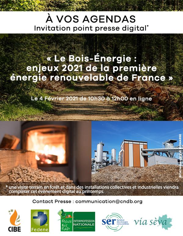 Point Presse Bois-Energie : enjeux 2021 de la première énergie renouvelable de France